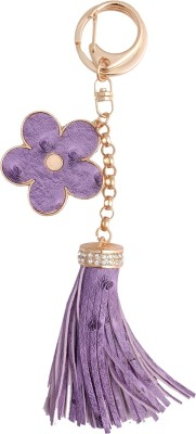 Super Drool Purple Flower and Fringes Locking Key Chain