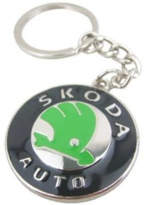 Prime Traders Skoda Emblem Car Logo Locking Key Chain