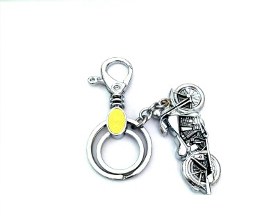 Ezone Bullet Raja Metal Bike Locking Key Chain