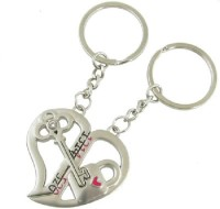 True Traders true traders pair of love heart couple keychain Key Chain