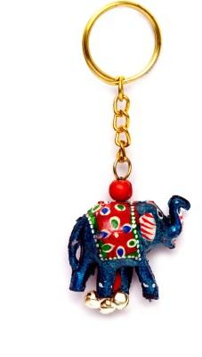 Lamha Crafts Iridescent Blue Elephant Key Chain