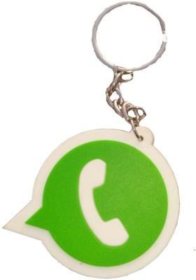Divinext Designer Whatsapp Logo Soft Rubber Key Chain