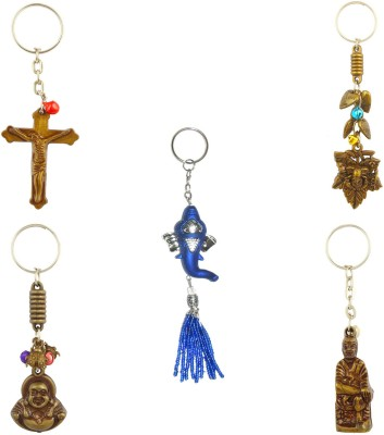 CTW Religious Blessing God Gnaehsa saibaba Holly cross God luck charm combo Key Chain