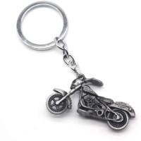 optimus Traders Motor Harley-Davidson Cycles Skull Motorcycle 3d Metal Key Chain(Silver)
