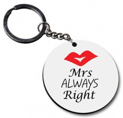 Shoppers Bucket Mrs Right Key Chain