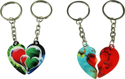 Target retail LOVE DOUBLE HEART COUPLE KEYRING Key Chain