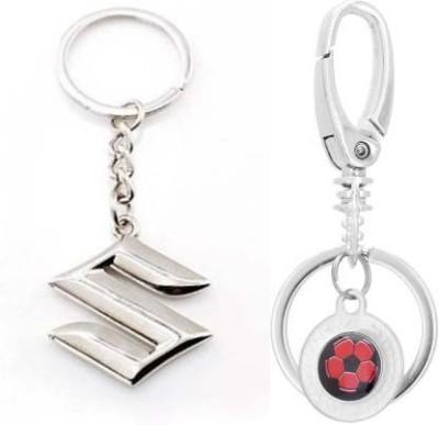 Rashi Traders Maruti Suzuki & Double Challa Locking Locking Key Chain