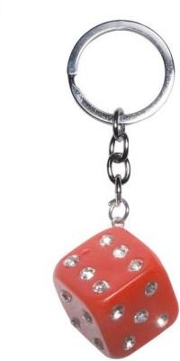Phoenix Diamond Studded Dice Key Chain