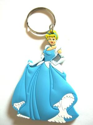 Optimum Deal Cute Princess Cartoon Character Double Sided Rubber Key Chain