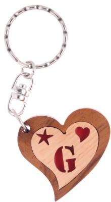 JM Alphabet G Heart Key Chain