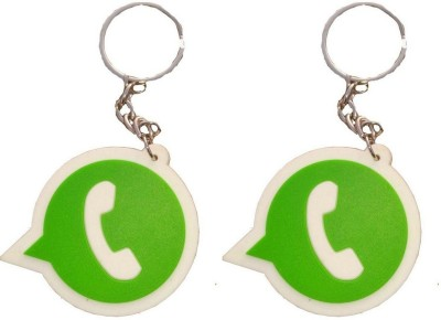 Singh Xpress Key Chain- Whatsapp Rubber Logo(Pack Of 2) Key Chain