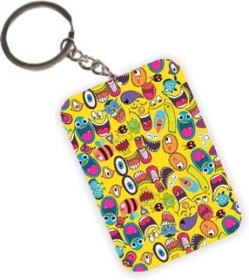 The Crazy Me Quirk Up (Yellow) Pattern Key Chain