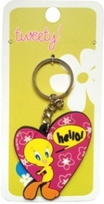 Warner Bros Tweety Heart Rubber Key Chain