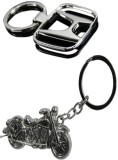 Alexus Honda And Bike Key Chain (Silver)