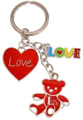 Indigo Creatives Valentine Cute Love Heart Steel Key Chain