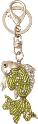 Super Drool Crystal Fish Locking Key Chain