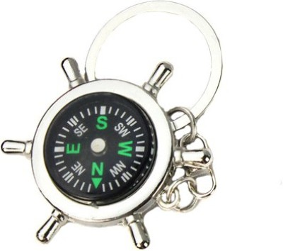 Retina Round Compass Key Chain