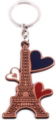 VeeVi Copper Paris Eiffel Tower Love Key Chain