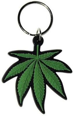 Abzr Green Leaf Keychain Key Chain