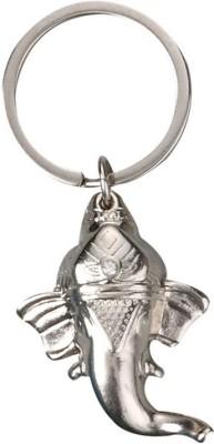 Rudham Lord Ganesha Silver Color Metal Keyring Key Chain