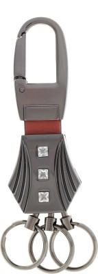 VeeVi Post Horse Silver Diamond Keychain Locking Carabiner