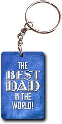 Shoppers Bucket Best Daddy in the World Key Chain