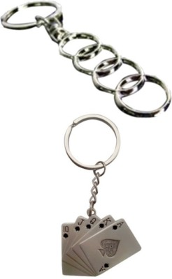 Alexus Audi And Playing Card Key Chain