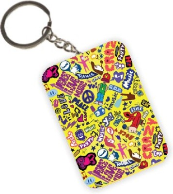 The Crazy Me Music Bug Doodle Key Chain
