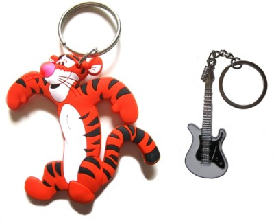 Optimum Deal Cute Cartoon Character Tiger Rubber Figure(M9) Double Sided Key Chain