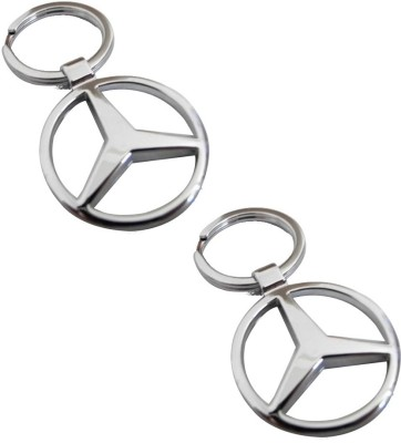 Onlinemart Mercedes Full Metal KeyRing (Pack of 2) Key Chain
