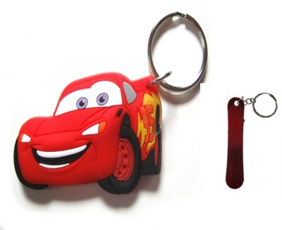 Optimum Deal Cute Cartoon Character Car Figure (M-20) Double Sided Rubber Key Chain