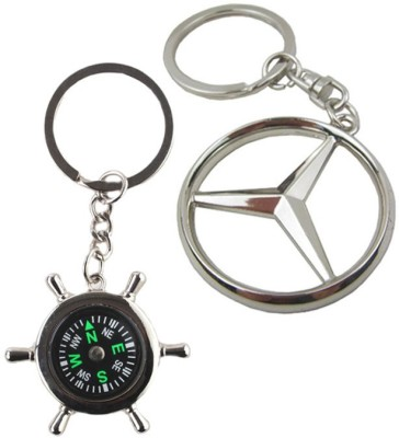 Alexus Compass And Mercedes Key Chain