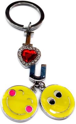 FASHION FEVER CLASSY LOVE METAL SMILEY KEYCHAIN Key Chain