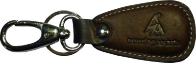 Sondagar Arts Pure Leather locking Mens Locking Key Chain