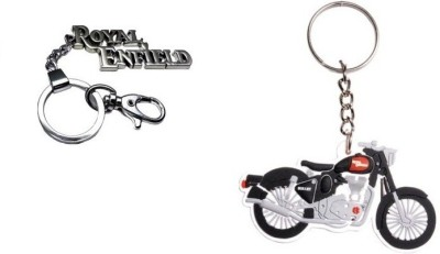 Chainz Royal Enfield Hook And Silicon Bike Key Chain
