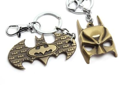 SRPC SUPER HERO BATMAN LOGO AND FACE MASK AWESOME Locking Key Chain