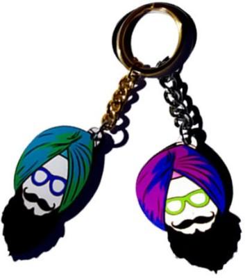 MiiCreations Punjabi Singh Beard Key Chain
