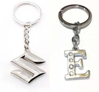 Rashi Traders Maruti Suzuki & Alphabet E Key Chain