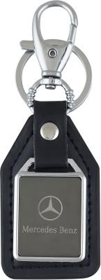 PARRK Mercedes Benz mirror leather Logo Locking Key Chain
