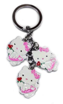 Aditya Traders Lovely Hello Kitty Metal Keychain Key Chain