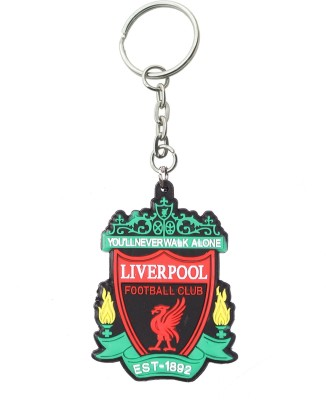 Confident 01 Liver pool Playing Rubber Keychain Key Chain