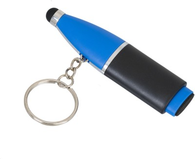 Gadge Bottle Shape With Stylus And Pc Cleaner Blue Key Chain