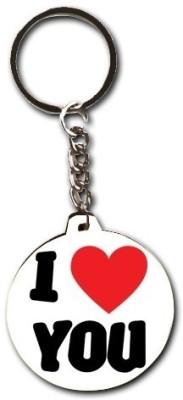 Smileonline Love Round Wood 12 Key Chain