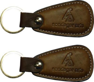 Sondagar Arts Classic Pure Leather Men's Key Chain
