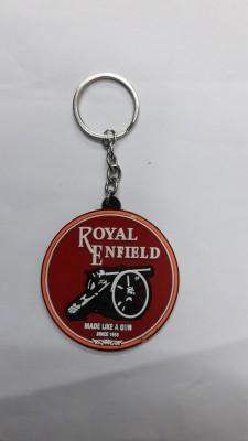 Bike World Royal Enfield Key Chain Rubber Key Chain