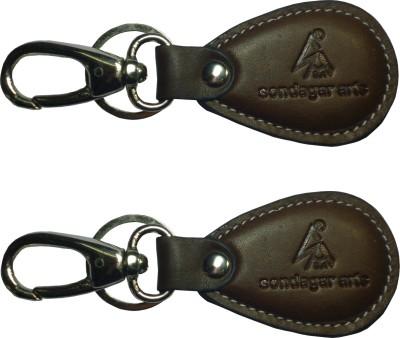 Sondagar Arts Exclusive Genuine Leather Men's Locking Key Chain