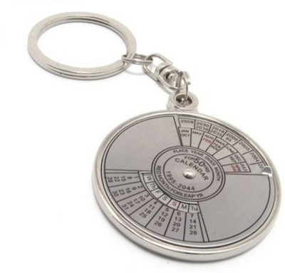 Oyedeal Compass Date Perpetual with Calendar up-to 50 Years Key Ring Key Chain