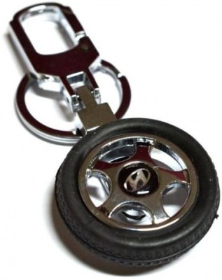 Prime Traders Hyundai Rotary Wheel Car Logo Locking Key Chain