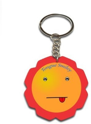 Onlineworld Smiley Face Flower Shape-05 Key Chain