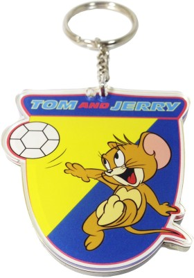 Warner Bros Tom & Jerry Rubber Keychain Carabiner